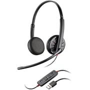 Plantronics® 300 Blackwire Over The Head Binaural Stereo Headset