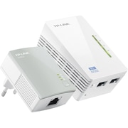 TP-LINK TL-WPA4220KIT ADVANCED 300MbpsUniversal Wi-FiRange Extender,Repeater,AV500 Powerline Edition
