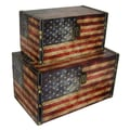 Cheungs American Flag Treasure Box (Set of 2)