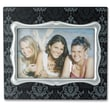 Lawrence Frames Damask Pattern Picture Frame; Black with Silver
