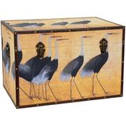 Oriental Furniture Cranes Storage Trunk