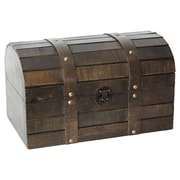 Quickway Imports Old Style Barn Wood Trunk
