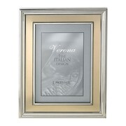 Lawrence Frames Brushed Gold Inner Panel Metal Picture Frame; 5'' x 7''