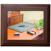 Dacasso 2000 Series Crocodile Embossed Leather Picture Frame; Brown