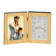 Bulova Forte I Picture Frame with Clock; Polished Brass