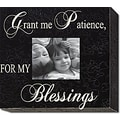Forest Creations Grant Me Patience, For My Blessings Home Frame; Rustic Blue