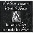 Forest Creations A House Is Made of Wood & Stone... Home Frame; Dark Chocolate