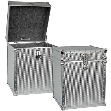 Seward Trunk Embossed Steel Tall Cube Storage Trunk