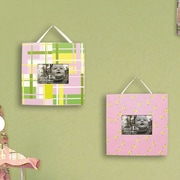 Trend Lab Nantucket Two Piece Picture Frame (Set of 2); Pink
