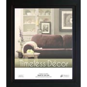Timeless Frames Studio Black Solid Wood Picture Frame; 16'' x 20''