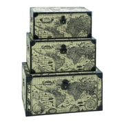 Woodland Imports Ancient World Map 3 Piece Trunk