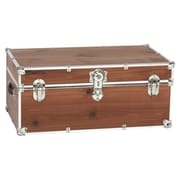 Stanley Case Works Small Finished Cedar Trunk; With Wheels and Tray