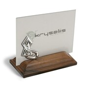 Krysaliis Shapes Sterling Silver and Wood Picture Frame