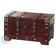 Quickway Imports Antique Style Wooden Small Trunk
