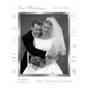 Malden Wedding Picture Frame; 4'' x 6''