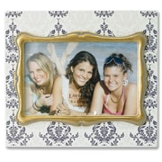 Lawrence Frames Damask Pattern Picture Frame; Ivory with Gold