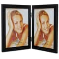 Lawrence Frames Black Hinged Double Picture Frame; Black