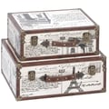 Aspire Paris Decorative Suitcase Trunks 2 Piece Set