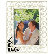 Fetco Home Decor Jeanine Circles with Pearls Picture Frame