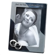 Fetco Home Decor Wedding Double Rings Two Shall Picture Frame