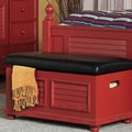 John Boyd Designs Outer Banks Cushion Top Storage Trunk; Red