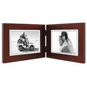 Malden Double Picture Frame; Dark Walnut