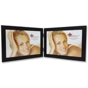 Lawrence Frames Contemporary Double Picture Frame; Black