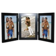 Lawrence Frames Hinged Triple Picture Frame; Black