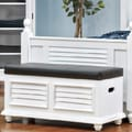 John Boyd Designs Outer Banks Cushion Top Storage Trunk; White