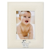 Lawrence Frames Faux Leather Picture Frame; Ivory