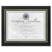 DAX MANUFACTURING INC. Leatherette Certificate Picture Frame; Black