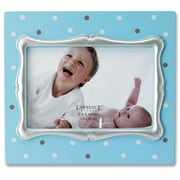 Lawrence Frames Polka Dot Picture Frame; Blue with Silver