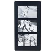 Lawrence Frames Multi Triple Horizontal Picture Frame; Black