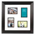 Melannco 4 Opening Collage Picture Frame with Fillets; Tortoise