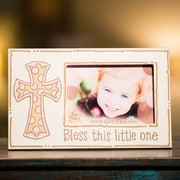 Glory Haus Bless This Little One Picture Frame; Pink