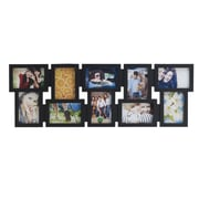 Melannco 10 Opening Black Collage Picture Frame