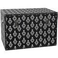 Oriental Furniture Damask Storage Trunk; Black