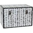 Oriental Furniture Bamboo Calligraphy Trunk