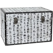 Oriental Furniture Bamboo Calligraphy Trunk