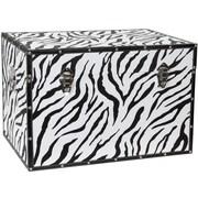 Oriental Furniture Faux Leather Zebra Trunk