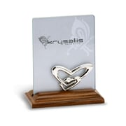 Krysaliis Double Heart Sterling Silver and Wood Picture Frame