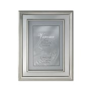Lawrence Frames Brushed Silver Inner Panel Metal Picture Frame; 5'' x 7''