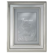 Lawrence Frames Brushed Silver Inner Panel Metal Picture Frame; 8'' x 10''