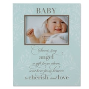 Lawrence Frames Baby Plaque Picture Frame; Blue