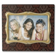 Lawrence Frames Damask Pattern Picture Frame; Brown with Gold