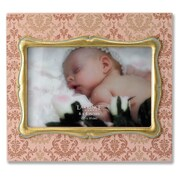 Lawrence Frames Damask Pattern Picture Frame; Pink with Gold