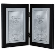 Lawrence Frames Metal Hinged Double Picture Frame; 4'' x 6''