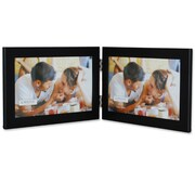 Lawrence Frames Metal Hinged Double Picture Frame; 6'' x 4''