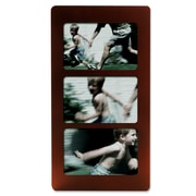 Lawrence Frames Multi Triple Horizontal Picture Frame; Walnut
