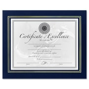 DAX MANUFACTURING INC.                             Leatherette Certificate Picture Frame; Blue